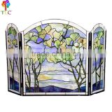 F-5 Beautiful scenery tiffany style stained glass fireplace tiffany panel wholesale tiffany windows china