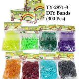 2014 fashion 12000 rubber bands diy loom bands kit ,colorful crazy loom bands wholesale for children with hooks clips holders