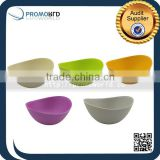 Eco-friendly Bamboo Fiber Natural Salad Bowls Colorful Dinnerware Sets