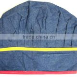 cotton fabric Wholesale chef hats for promotion gift and kitchen, jeans fabric chef hat -13