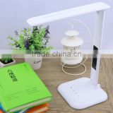 Eyesight Protection Foldable Cool LED Desk Lamp Lamps,With Touch Switch,Calendar & Temperature,3 CCT Options,5 Steps dimming
