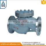 2015 TKFM hot sale city water supply pipeline use ductile iron cast iron flanged swing bypass check valve