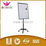 free standing whiteboard with roller Round based height adjustable Mobile Flip chart stand whiteboard with wheel BW-VA