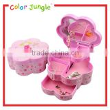 Flower shape plstic jewelry music box ballerina music box