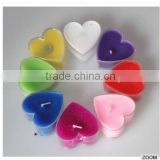 Colorful love heart shape candles scented in bulk wholesale smokeless mini cheap candles scented in glass jar