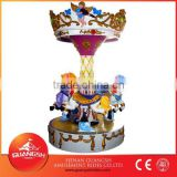 Easy to operate ! Popular children games on playground mini carousel coin operated rides