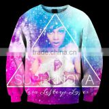Wholesale Custom Bulk Fashion 3D Galaxy Hoddie Pullover Hoody Sweatshirt Digital Printing Sweater For Women