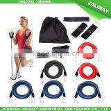 Upper body building resistance band chest exercises set for fitness