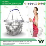 Metal shopping baskets with handles / Supermarket Shopping Basket Portable and practical