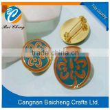 custom design security pin badge/magnetic lapels/butterfly clasp emblem with competitive price and top quality for sale