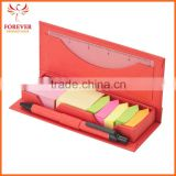 Wholse Supplier Sticky Note Case With Ruler And Ballpen 125 Sheets 2 Colors Sticky Flags
