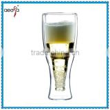 New Design Pyrex Whisky Glass bottle fancy double wall ice cup