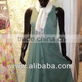 Plain dyed cotton Dress sleeveless maxi dress hand embroidery pattern printed casual dress