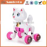 Popular intelligent voice control battery operated toy plastic cats