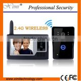 Wireless video door phone video peephole door camera 3.5 inch color video door phone intercom