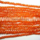 Carnelian Faceted Button Beads