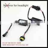 LED headlight headlamp Canbus Load Resistor Wiring Canceller Decoder for headlight bulb H8 H9 H10 H7 H1 9005 9006 9004