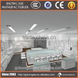 MDF glass fashion high-end wooden display furniture interior counter optical store design