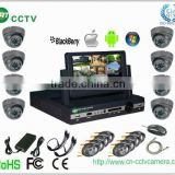 "8 channel dvr kit intergrated 7"" LCD monitor with 8pcs ip66 camera (GRT-D7008MHK1-3SS)"