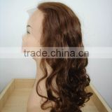 fashion lady lace wig body wavy natural looking stock or custom