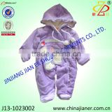 2015 new arrival embroidery velour fabric wholesale winter baby rompers cheap baby clothing