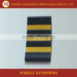 Yellow Reflector Rubber Triangle Wheel Chock