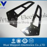 Professional manufacture custom lower price carbon fiber cnc maching parts for Drone/RC frames