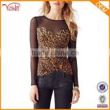 China wholesale clothing distributors of animal print blouse women tops 2015