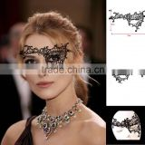 Black gauze lace mask for dances party The Unique female assembly act mask