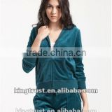 Wholesale long sleeve velvet suits for women t shirt