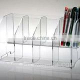 Hot sale high clear acrylic four seperated pen display holder