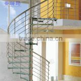 Customized stainless steel glass spiral staircase(PR-S22)