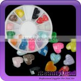 New coming nail heart shape rhinestone neon 12colors