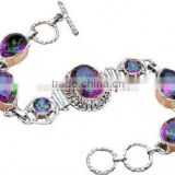 Mystic Topaz Jewellery H561 Wholesale India Sterling Silver Cheap 925 Ring Diamond Bracelets