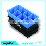 whiskey square silicone ice cube tray set-each mold makes 8 large 2 inch cubes the perfect size for any glass