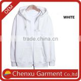 custom hoodies heavy cotton plain white thick heavy fleece pullover hoodie men's blank zip up hoodies wholesale