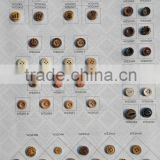 High End Colorful Wooden Buttons for Mens Shirt with Logo Engraved on