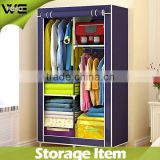 DIY Folding Triple Powder-Coating Tubes Fabric Wardrobe,home dampproof dustproof assemble fabric wardrobe