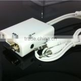 MHL Micro USB to VGA and audio Adapter for Samsung Galaxy i9300 S3 S4 Note 2 i9308 N7100 Micro USB to VGA Cable
