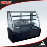 1.2m Commercial Free Standing Glass Modern Cake Showcase Price/Cake Freezer/Glass Cake Display Cabinet