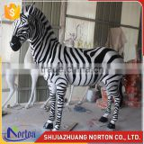 amusement park decorative life size fiberglass zebra animal statues NTRS662S