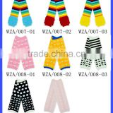 2016 Newest Rainbow Color Striped Baby Leg Warmer Kids Ruffled Leg Warmer Children Cotton Knitted Legwarmers For Girl