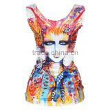 OEKOTEX-CERTIFICATE Factory Custom polyester dry fit dye sublimation sleeveless shirt