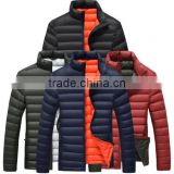 OEM service custom high quality padded jackets/ fashion designer men winter quilted jacket