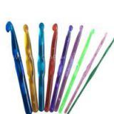Colorful Transparent Plastic Crochet Hooks Set Of 10 Sizes