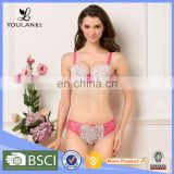 Christmas New Arrival Pretty Breathable Female Sexy Bra Set And Mini Panty