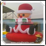 Christmas santa claus, animate santa claus decorations for promotion, inflatable xmas yard ornament for outdoor event
