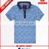 Latest design printed polo tshirt for kids