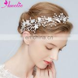 Delicate Crystal Baby's Breath Vine Floating Bead and Rhinestone Clusters Lush Hair Vine Bridal Hairband Princess Prom Headpiece