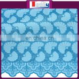 African cotton material beautiful lace fabric with eyelet